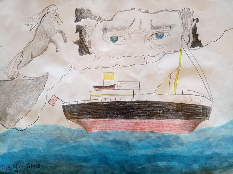 Etkin Kolej | 19 Mayıs Coşkusunu Resim Yarışması ile Kutladık